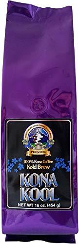 Mountain Thunder Coffee Plantation Award-Winning, Premium 100% Kona Kool Kold Brew Coffee - Cold Brew, Coarse Ground (1 pound)