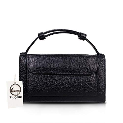 Mini Yoome Womens Rouge à sac Fashion d'embrayage bandoulière Noir main sac pour les Leather embrayage filles à Size rBEdwqBH