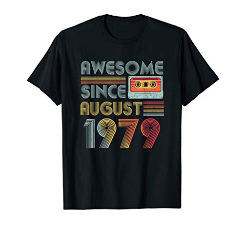 Awesome since August 1979 Vintage 40 years old Tshirt ()