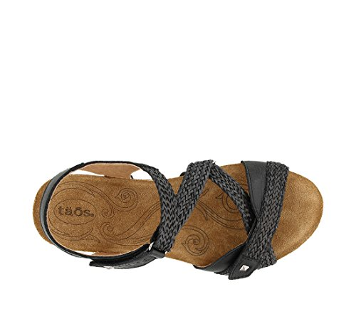 Taos Footwear Sandalo Donna In Pelle Julia Nero