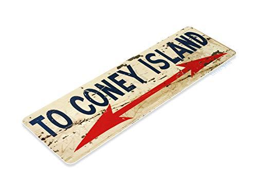 Tinworld Tin Sign Coney Island Rustic Hot Dog Metal Sign Decor Kitchen Cottage Farm A099
