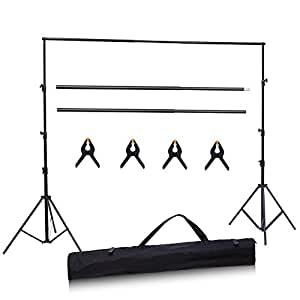 Ohuhu Photo Video Studio 10 Foot Adjustable Backdrop Support System Stand (No Backdrop Included)