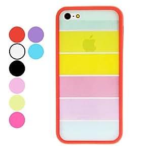conseguir Caja transparente del arco iris del estilo TPU duro con protector de pantalla y paño de limpieza para 5/5s (colores opcionales) iphone , Rojo