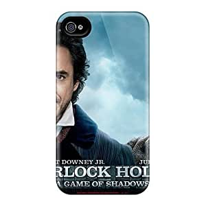 Awesome XhNIvfN7947zfAmv Dana Lindsey Mendez Defender Tpu Hard Case Cover For Iphone 4/4s- Sherlock Holmes A Game Of Shadows