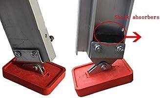 SRFDD Pies de Goma Antideslizantes de la Escalera de extensión de Servicio Pesado, pies de Escalera Ajustables, Almohadillas de Goma de pies de Escalera de extensión Antideslizantes Resistentes: Amazon.es: Hogar
