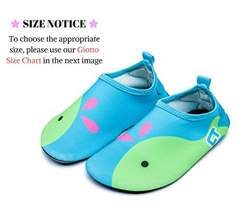 Giotto Wassersport Barefoot Aerobic Schuhe Leichte Quick-Dry Aqua Socken für Beach Pool Swim Yoga A4-grün