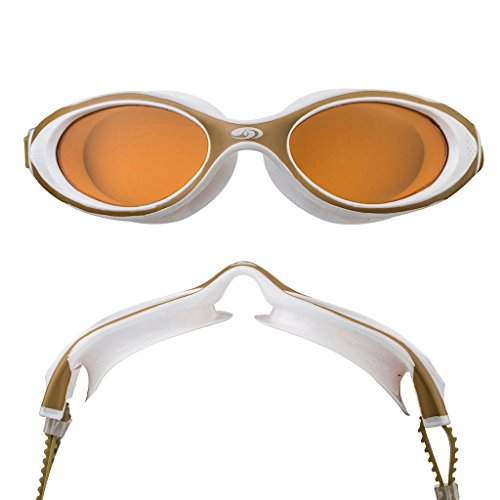 blueseventy Hydra Vision Goggles - for Triathlon, Pool and Open Water Swimming (White, Bronze ()