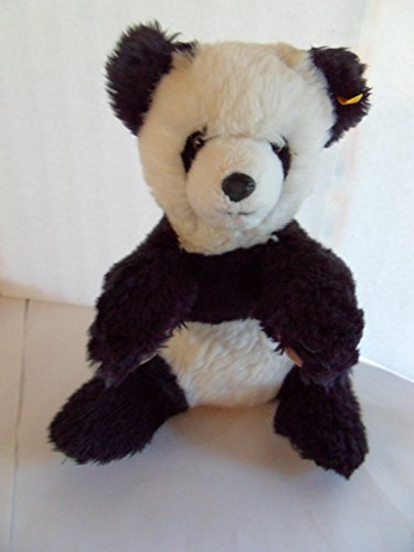 (Steiff Panda Bear Large!!!! Old,w. Button/Flag,Made in Germany 1208)