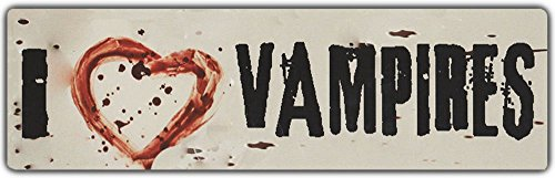 Bumper Stickers: I LOVE VAMPIRES | With Bloody Heart (Bloody Bolt Kit)