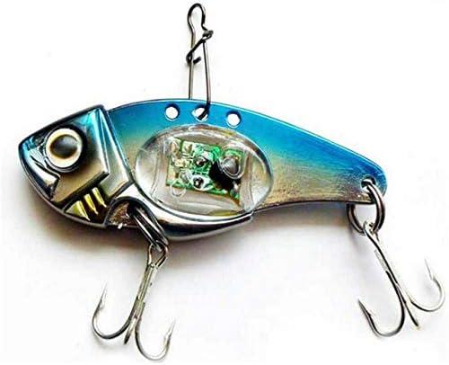 Fishing Crank Lures Bait Deepwater Salmon Pike Bass with Flashing LED Light.