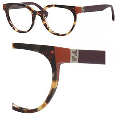 Fendi - THE FENDISTA FF 0131, Geometric, acetate, women, HAVANA PLUMB(MFX), - Fendi Eyeglass Frames Women's
