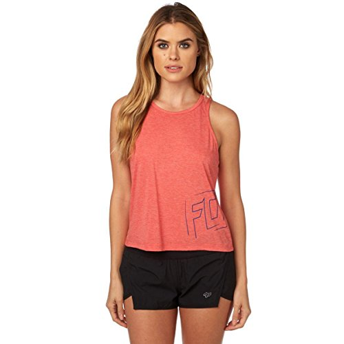 Fox Racing Women's Stilted Crop Tank,X-Small,Strawberry