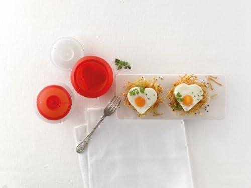 Lékué - Cuece Huevos en Forma de corazón, Color Transparente ...