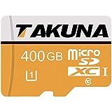 400GB Micro SD Card, TAKUNA High Speed Class 10 Micro SDXC Memory Card with Free Adapter