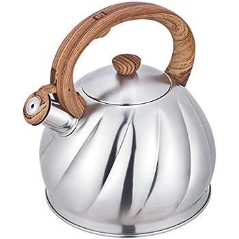 Amazon.com: Riwendell - Tetera de acero inoxidable con tapa ...