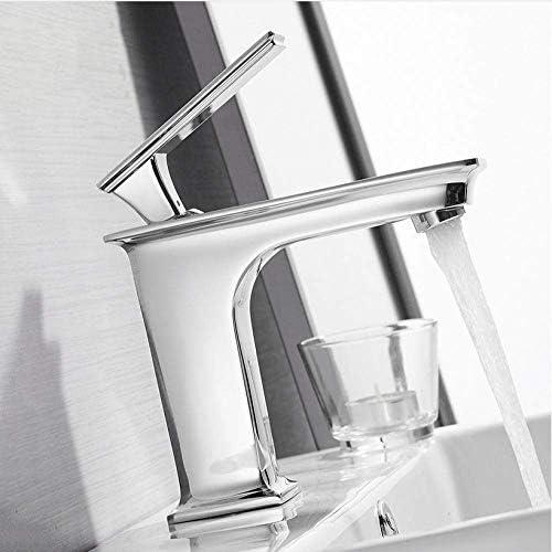 ゆば 浴室のための流域水栓のファッション浴室のミキサーのタップ真鍮洗面の蛇口シングルハンドル単穴エレガントクレーン