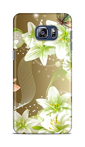 Shengshou Mobile Back Cover for Samsung Galaxy S6 Edge Plus Design Flower Butterfly Star ABC471M31898
