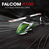 USHOT XK K100 6CH 3D 6G System RTF RC Helicopter Built-in Gyro Super Stable Flight Green One Size