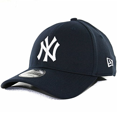 Custom Fit Stretch Hat - MLB New York Yankees Team Classic Game 39Thirty Stretch Fit Cap, Blue, Large/X-Large