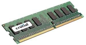 Crucial Technology CT25664AA1067 2 GB 240-pin DIMM DDR2 PC2-8500 CL=7 Unbuffered NON-ECC DDR2-1066 1.8V 256Meg x 64 Memory