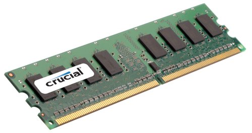Crucial 2GB Single DDR2 667MHz (PC2-5300) CL5 Unbuffered ECC UDIMM 240-Pin Server Memory (5300 Ddr2 Ecc Memory)