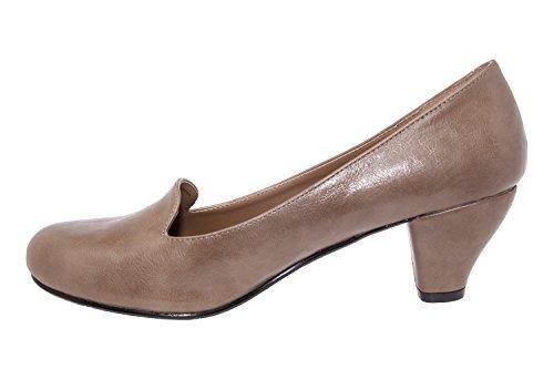 Andres Machado.AM5053.Slipper Tacon.Mujer.Tallas Pequeñas, Grandes 32/35-42/45 softtaupe