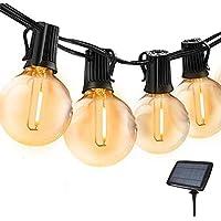 Guirnaldas Luminosas de Exterior,Bomcosy G40 Cadena Bombillas Solares 18ft/5.5m con 10+2(Bombilla de led) Luces Led…