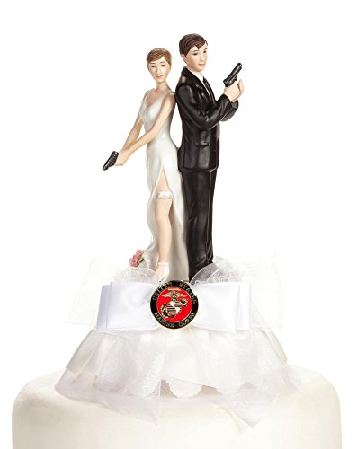 Military Super Sexy Spy Guns Cake Topper- Air Force - Navy - Army - Marines (Army) (Cake Wedding Army)