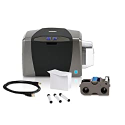 Fargo Dtc1250e Single Sided Usb Card Printer With Supplies Bundle (50605)