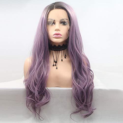 Peluca femenina, cosplay peluca conjunto, púrpura grande ondulado pelo,Purple: Amazon.es: Bricolaje y herramientas