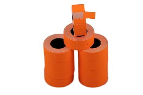 Rotoli Di Carta Colorata : Rotoli arancione mm etichette di carta colorata