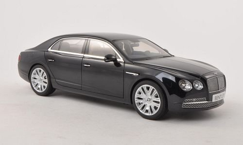 (2013 Bentley Flying Spur W12 in Onyx (Black) in 1:18 Scale by Kyosho)