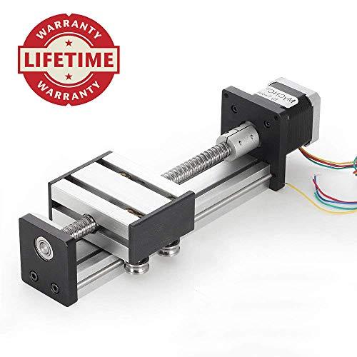 100mm Travel Length Linear Stage Actuator DIY CNC Router Parts X Y Z Linear Rail Guide Sfu1402 Nema17 ()