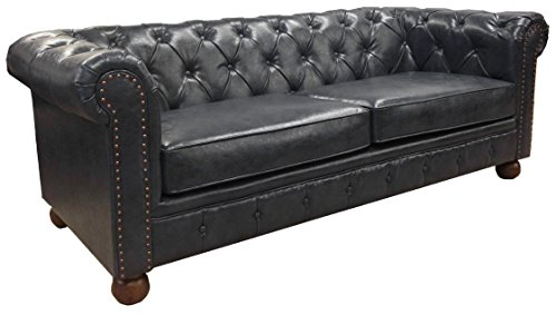 Armen living lc10603atbl winston sofa in blue for Divano winston