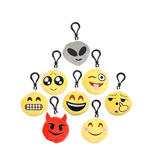Emoji Keychain Set of 8 - 2 inch
