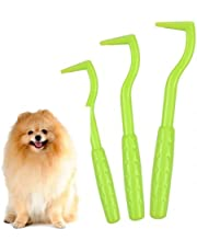 AvoDovA 3 Pcs Tick Remover, Green Tick Removal Tools Remove Ticks for Dogs Cats, 3 Size Tick Twister Tick Tweezers Tick Hooks, Painlessly Pet Ticks Extractor for Pet Dogs Cats