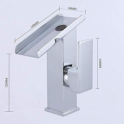 CHENBIN-BB キッチンには、ワイド4つの新しいフル・銅シルバークローム蛇口の滝盆地タップ口のバスルーム家具蛇口(カラー:シルバー、サイズ:125 * 145 * 100ミリメートル* 60)