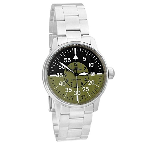Cockpit Automatic Watch (Fortis Men's 595.11.16 M Flieger Cockpit Olive Analog Display Automatic Self Wind Silver Watch)