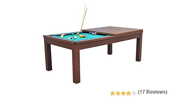 Billar americano con bandeja para comer, 2 juegos de bolas y accesorios, Havane-Vert: Amazon.es: Deportes y aire libre