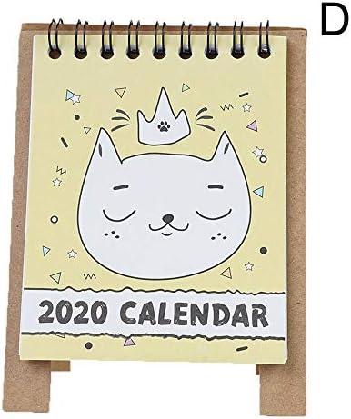 NO LOGO H-OUO Kalender, 2020 Familie Home Planer Desktop Calendar Cartoon Tischkalender Mini-Tisch Tischkalender Agenda Organizer-Planerbuch for Busy Haushalte,Für Geschenk (Color : Style D)
