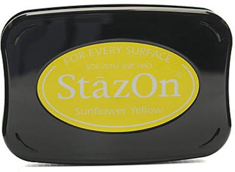 - Tsukineko StazOn Solvent Ink (Sunflower Yellow) 1 pcs sku# 1844103MA