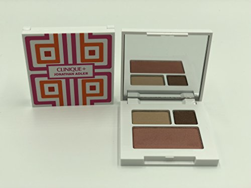 Clinique Colour Surge Eye Shadow Duo Like Mink 0.03oz/1g &Blushing Blush Powder Blush/sunset Glow 0.06oz/1.8g Surge Eye Shadow Duo
