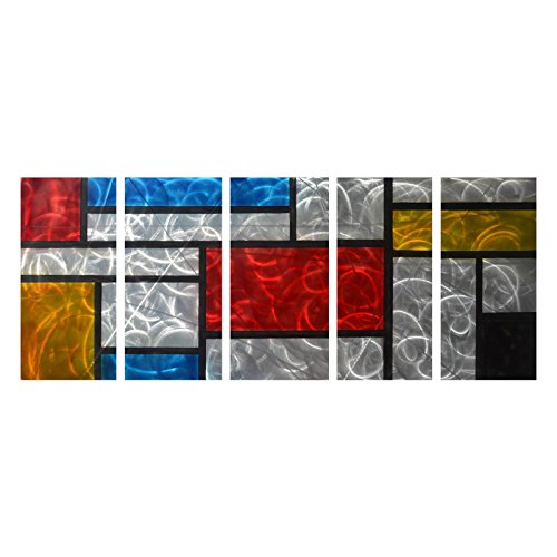 Colorful Aluminum Large Metal Wall Art Abstract Modern - Metal wall decorations