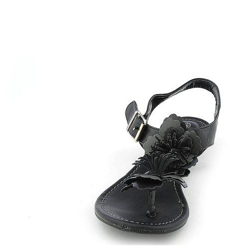 Breckelles Womens Ginny-02 Sandalo Nero