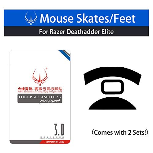 Price comparison product image New Mouse Skates & Mouse Feet & Mice Feet & mouseskates (for Razer Deathadder Elite Comes with 2 Sets)