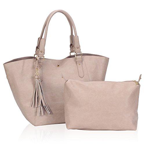Veevan-Bolsos-Totes-Grandes-con-Borlas-Organizados-por-2-bolsos-para-Mujer