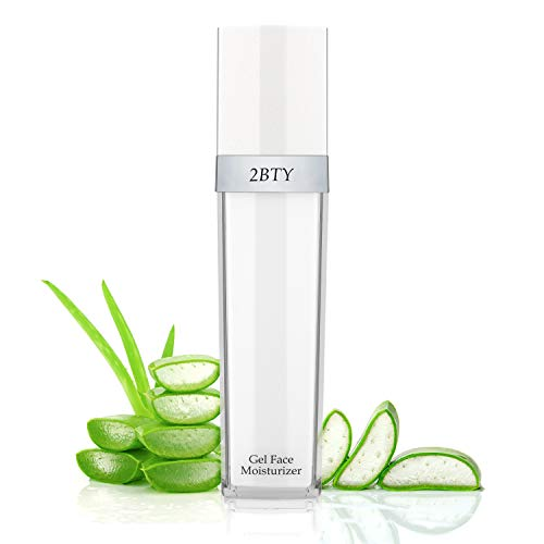 (2BTY Gel Face Moisturizer | Oil-Free Aloe Based Lotion | 3.38 Fl. Oz. | Naturally Hydrating For Sensitive Dry Skin)
