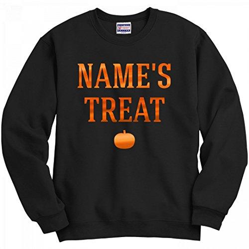 Couple Halloween Customs (Halloween Couple Custom Name Treat: Unisex Hanes Ultimate Crewneck Sweatshirt)