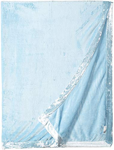 PJ Salvage Women's Luxe Plush Blanket, ice Blue, 1SZ