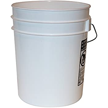 Amazon Com 5 Gallon Heavy Duty White Plastic Bucket 10